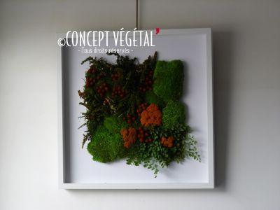 cadre floral mural artificiel elegant cadre floral carre. Black Bedroom Furniture Sets. Home Design Ideas